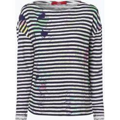 T-shirty damskie: s.Oliver Casual – Damska koszulka z długim rękawem, niebieski