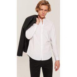 Koszula basic - Biały. Szare koszule męskie marki House, l, z bawełny. Za 69,99 zł.