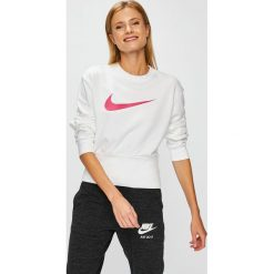 Nike Sportswear - Bluza. Szare bluzy z nadrukiem damskie Nike Sportswear, l, z bawełny, bez kaptura. Za 219,90 zł.