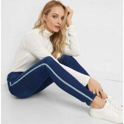 Odzież: Jeansy skinny z lampasami