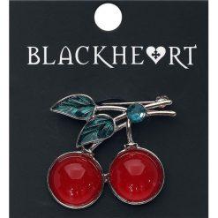 Broszki damskie: Blackheart Cherries Broszka czerwony/złoty