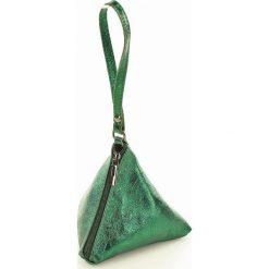 Torebki klasyczne damskie: Piramidka skórzana torebka wizytowa SIENA zielony