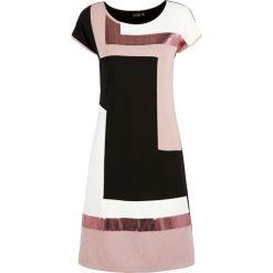 Sukienki: Sukienka bonprix czarno-jasnoróżowo-kremowy