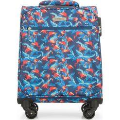 Walizka kabinowa 56-3S-541-FL. Brązowe walizki marki Wittchen, z nadrukiem, małe. Za 229,00 zł.