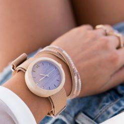 Drewniany zegarek damski new hoop 38 mm n069. Różowe zegarki damskie Pakamera. Za 374,00 zł.