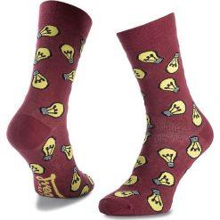 Skarpety Wysokie Unisex FREAK FEET - LZAR-BRD Bordowy. Niebieskie skarpetki męskie marki Freak Feet, w kolorowe wzory, z bawełny. Za 19,99 zł.