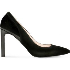 Czółenka FIORITA. Czarne buty ślubne damskie Gino Rossi, ze skóry, na wysokim obcasie, na szpilce. Za 229,90 zł.