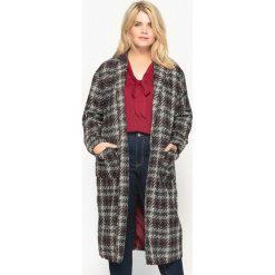 Płaszcze damskie: Wzorzysty prosty płaszcz