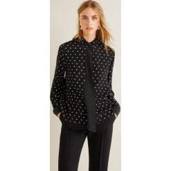 Mango - Koszula Tie. Czarne koszule damskie Mango, l, z aplikacjami, z materiału, klasyczne, z klasycznym kołnierzykiem, z długim rękawem. Za 139,90 zł.