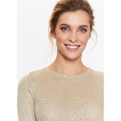 Swetry klasyczne damskie: SWETER DAMSKI Z CEKINAMI