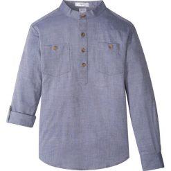 Koszula z wywijanymi rękawami bonprix indygo melanż. Białe bluzki dziewczęce z krótkim rękawem marki bonprix, z klasycznym kołnierzykiem. Za 54,99 zł.