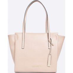 Calvin Klein - Torebka Frame Large Shopper. Szare shopper bag damskie marki Calvin Klein, z materiału, do ręki, duże. W wyprzedaży za 549,90 zł.