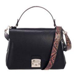 Torebki klasyczne damskie: Skórzana torebka w kolorze czarnym – (S)27 x (W)26 x (G)17 cm