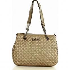 NOBO Pikowana torebka na ramię stare złoto. Żółte torebki klasyczne damskie Nobo, w geometryczne wzory, pikowane. Za 159,00 zł.