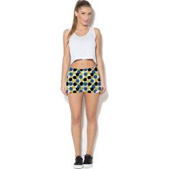Spodnie damskie: Colour Pleasure Spodnie damskie CP-020 4 biało-niebieskie r. XL/XXL