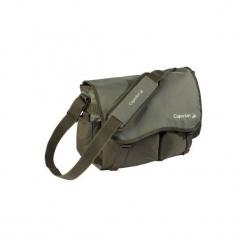 Torba pstrągowa z wieloma kieszeniami Trout'bag khaki. Brązowe torebki klasyczne damskie marki CAPERLAN, z materiału. Za 69,99 zł.