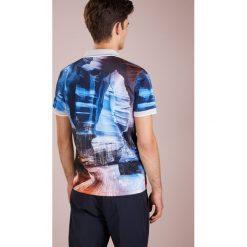 BOSS ATHLEISURE PARIQ Tshirt z nadrukiem bright blue. Niebieskie t-shirty męskie z nadrukiem marki BOSS Athleisure, m. Za 579,00 zł.