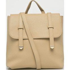 Answear - Plecak. Brązowe plecaki damskie ANSWEAR, z materiału. W wyprzedaży za 69,90 zł.
