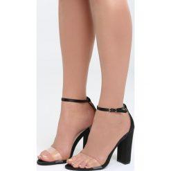 Czarne Sandały Roses Are Red. Czarne sandały damskie na słupku marki Born2be, z materiału, na wysokim obcasie. Za 89,99 zł.