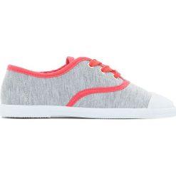 Trampki w kolorze szary melanż 26-39. Szare buty sportowe dziewczęce La Redoute Collections, melanż, z materiału. Za 52,88 zł.