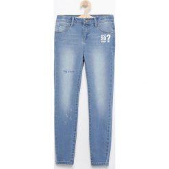 Jeansy dziewczęce: Jeansy slim fit z aplikacjami – Niebieski