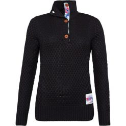"""Golfy męskie: Sweter """"Aletsch"""" w kolorze czarnym"""