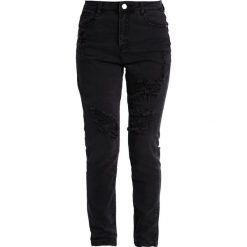 Missguided Petite SINNER HIGHWAISTED AUTHENTIC RIPPED  Jeans Skinny Fit black. Czarne jeansy damskie Missguided Petite, petite. Za 149,00 zł.