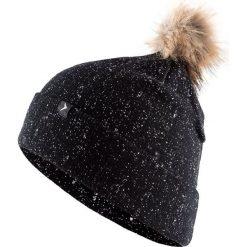Czapka damska CAD609 - głęboka czerń - Outhorn. Czarne czapki zimowe damskie Outhorn, na jesień. Za 39,99 zł.