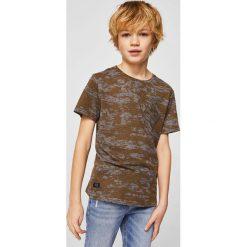 Mango Kids - T-shirt dziecięcy Devore 110-164 cm. Szare t-shirty chłopięce Mango Kids, z bawełny, z okrągłym kołnierzem. W wyprzedaży za 29,90 zł.