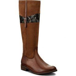 Oficerki PIAZZA - 970717 Whiskey 2. Czarne buty zimowe damskie marki Kazar, ze skóry, przed kolano, na wysokim obcasie, na obcasie. W wyprzedaży za 349,00 zł.