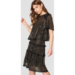 Sukienki hiszpanki: Twinset Sukienka mini Abito Nero – Black