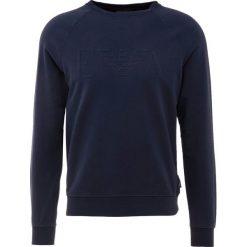 Emporio Armani FELPA Bluza blu navy. Szare bluzy męskie marki Emporio Armani, l, z bawełny, z kapturem. Za 559,00 zł.