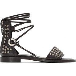 Rzymianki damskie: Płaskie skórzane sandały, Time