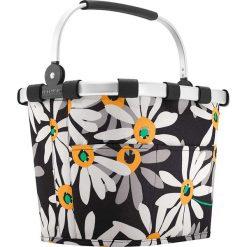 Shopper bag damskie: Kosz zakupowy w kolorze czarno-białym – 35 x 29 x 28 cm