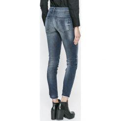Diesel - Jeansy Gracey. Niebieskie jeansy damskie rurki Diesel, z bawełny. W wyprzedaży za 599,90 zł.