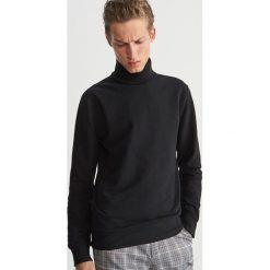 Bluza z golfem - Czarny. Czarne bluzy męskie rozpinane marki Reserved, l, z kapturem. Za 119,99 zł.