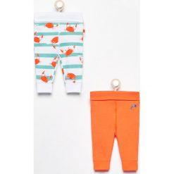 Odzież niemowlęca: Spodnie 2 pack - Pomarańczo