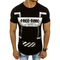 T-shirty męskie z nadrukiem: T-shirt męski z nadrukiem czarny (rx2104)