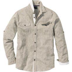 Koszule męskie na spinki: Koszula z długim rękawem Regular Fit bonprix zielony khaki melanż