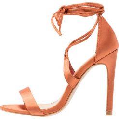 Rzymianki damskie: Glamorous Sandały na obcasie copper