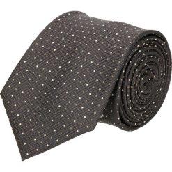 Krawat mikrowzór brąz 100. Czarne krawaty męskie Recman. Za 49,00 zł.