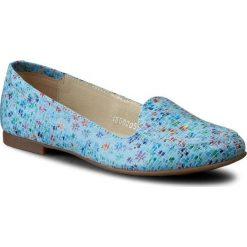 Lordsy BALDACCINI - 718000-H Kwiatuszki/Błękit. Niebieskie lordsy damskie Baldaccini, z nubiku. W wyprzedaży za 169,00 zł.