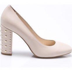 CheBello - Czółenka. Szare buty ślubne damskie marki CheBello, z materiału, na obcasie. W wyprzedaży za 199,90 zł.