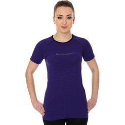 Bluzki sportowe damskie: Brubeck Koszulka damska 3D Run PRO z krótkim rękawem fioletowa r. XL (SS12030)