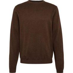 Finshley & Harding - Sweter męski – Pima-Cotton/Kaszmir, brązowy. Czarne swetry klasyczne męskie marki Finshley & Harding, w kratkę. Za 229,95 zł.