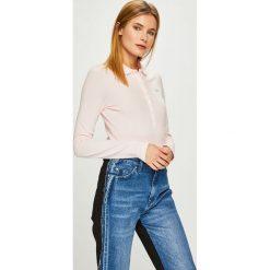 Lacoste - Bluzka. Szare bluzki asymetryczne Lacoste, l, z bawełny, casualowe, z krótkim rękawem. Za 399,90 zł.