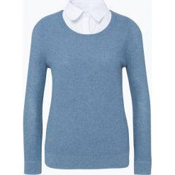 Swetry klasyczne damskie: Franco Callegari - Sweter damski, niebieski