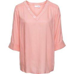 Bluzki asymetryczne: Bluzka z cekinami bonprix brzoskwiniowy