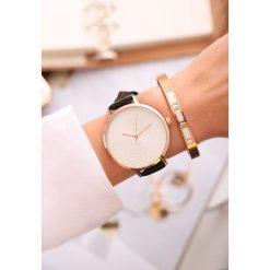 Biżuteria i zegarki: Czarno-Różowy Zegarek Open It