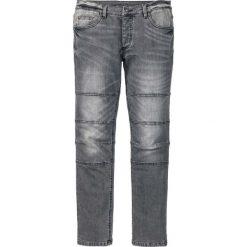 """Dżinsy ze stretchem Skinny Fit Straight bonprix szary """"used"""". Niebieskie jeansy męskie relaxed fit marki House, z jeansu. Za 139,99 zł."""